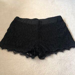 Aritzia lace shorts!
